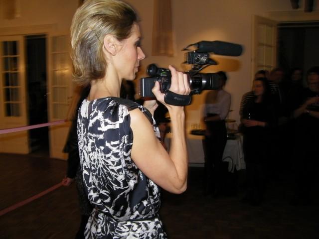 Alessandra Pasquali filmt mit