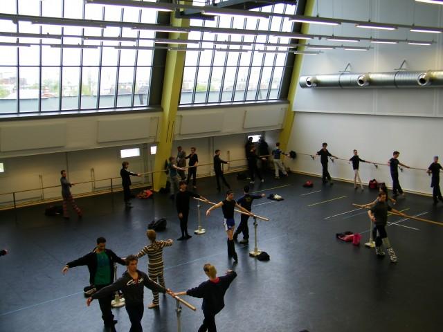 Das Training im Tatjana Gsovsky-Studio...