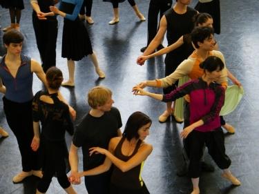 ... noch im Ballettsaal, Morgen wieder auf der Bühne!